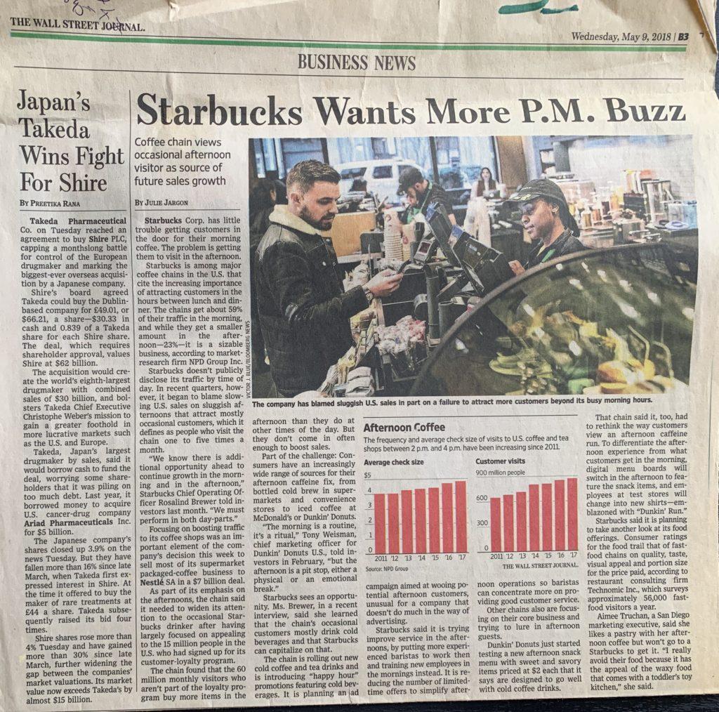 Starbucks Trying to Woo Afternoon Customers - Kooberi
